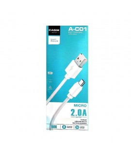 Cable Micro USB 1m 2A CASIM A-C01