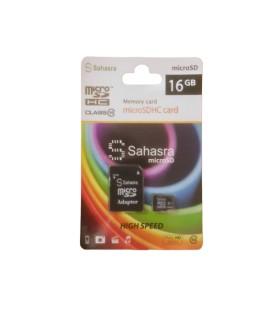 Carte Mémoire SAHASRA 16GB Class 10 avec Adaptateur