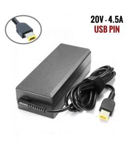Chargeur Pc - LENOVO - 20V 4.5A USB PIN
