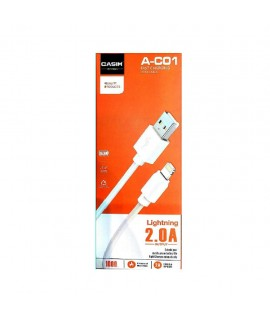 Cable Lightning 1m 2A CASIM A-C01