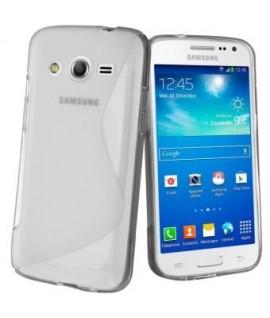 Etui en Silicone pour Samsung Galaxy Core 2 G355 / Transparent