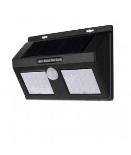Projecteur 40 LED 10W avec Panneau Solaire et Détecteur de Mouvement