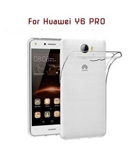 Huawei Y6 PRO - Etui en Silicone Transparent