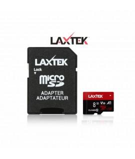 Carte Carte Mémoire LAXTEK 8GB Class 10 avec Adaptateur