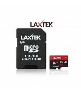 Carte Carte Mémoire LAXTEK 16GB Class 10 avec Adaptateur