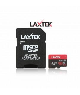 Carte Carte Mémoire LAXTEK 64GB Class 10 avec Adaptateur