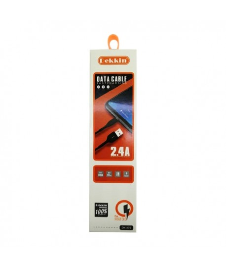 Cable Micro USB 1m 2.4A DEKKIN DK-A70