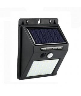 Projecteur 40 LED 5W avec Panneau Solaire et Détecteur de Mouvement