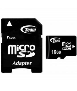 Carte Mémoire TEAM GROUP 16GB Class 10 avec Adaptateur