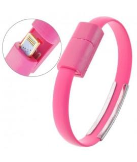 Cable Bracelet Rose pour iPhone 5 et plus