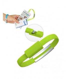 Cable Bracelet Vert pour iPhone 5 et plus