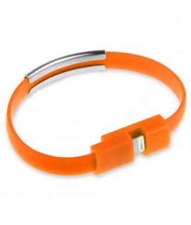 Cable Bracelet Orange pour iPhone 5 et plus