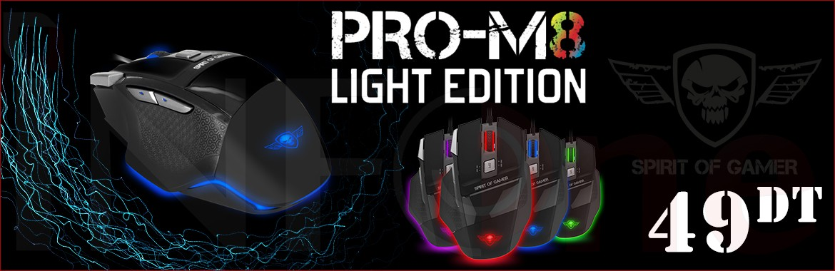Souris Gaming SPIRIT OF GAMER PRO-M8 LIGHT EDITION