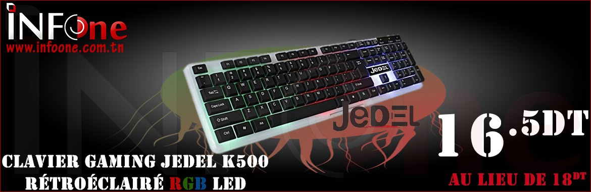 Clavier USB Gaming LED JEDEL K500